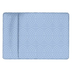Seamless Lines Concentric Circles Trendy Color Heavenly Light Airy Blue Samsung Galaxy Tab 10 1  P7500 Flip Case