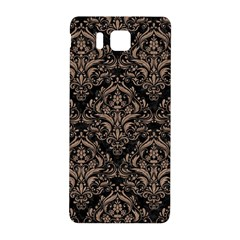 Damask1 Black Marble & Brown Colored Pencil Samsung Galaxy Alpha Hardshell Back Case