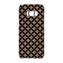 Circles3 Black Marble & Brown Colored Pencil (r) Samsung Galaxy S8 Hardshell Case