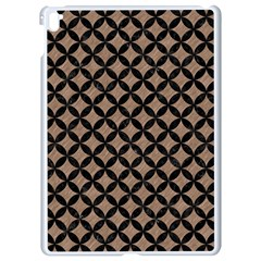 Circles3 Black Marble & Brown Colored Pencil (r) Apple Ipad Pro 9 7   White Seamless Case