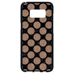 Circles2 Black Marble & Brown Colored Pencil Samsung Galaxy S8 Black Seamless Case