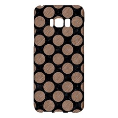 Circles2 Black Marble & Brown Colored Pencil Samsung Galaxy S8 Plus Hardshell Case