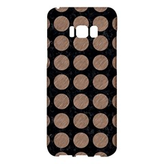 Circles1 Black Marble & Brown Colored Pencil Samsung Galaxy S8 Plus Hardshell Case