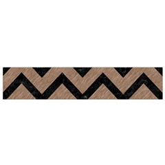 Chevron9 Black Marble & Brown Colored Pencil (r) Flano Scarf (small)