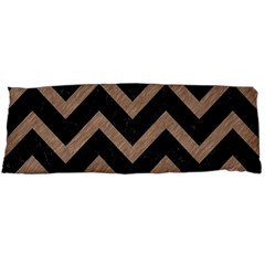 Chevron9 Black Marble & Brown Colored Pencil Body Pillow Case Dakimakura (two Sides)
