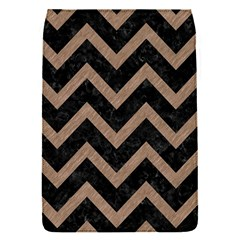 Chevron9 Black Marble & Brown Colored Pencil Removable Flap Cover (s)