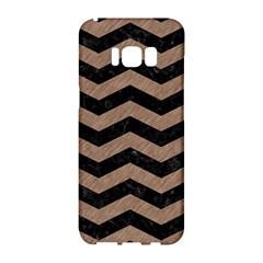 Chevron3 Black Marble & Brown Colored Pencil Samsung Galaxy S8 Hardshell Case