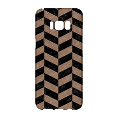 Chevron1 Black Marble & Brown Colored Pencil Samsung Galaxy S8 Hardshell Case