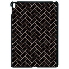 Brick2 Black Marble & Brown Colored Pencil Apple Ipad Pro 9 7   Black Seamless Case