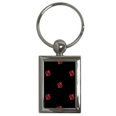 Seamless Pattern With Symbol Sex Men Women Black Background Glowing Red Black Sign Key Chains (rectangle)