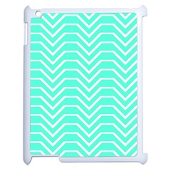 Seamless Pattern Of Curved Lines Create The Effect Of Depth The Optical Illusion Of White Wave Apple Ipad 2 Case (white)