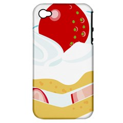 Seeds Strawberry Bread Fruite Red Apple Iphone 4/4s Hardshell Case (pc+silicone)