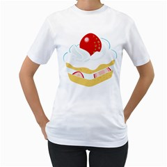 Seeds Strawberry Bread Fruite Red Women s T Shirt (white)