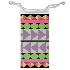 Shapes Patchwork Circle Triangle Jewelry Bag