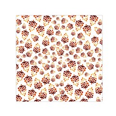 Pine Cones Pattern Small Satin Scarf (square)