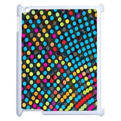 Polkadot Rainbow Colorful Polka Circle Line Light Apple Ipad 2 Case (white)