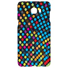 Polkadot Rainbow Colorful Polka Circle Line Light Samsung C9 Pro Hardshell Case