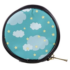 Stellar Cloud Blue Sky Star Mini Makeup Bags