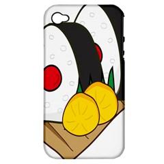 Sushi Food Japans Apple Iphone 4/4s Hardshell Case (pc+silicone)