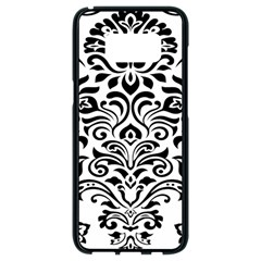 Vintage Damask Black Flower Samsung Galaxy S8 Black Seamless Case