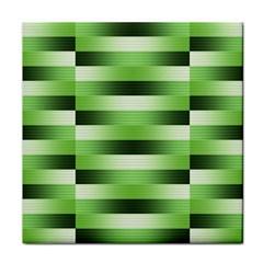 View Original Pinstripes Green Shapes Shades Face Towel
