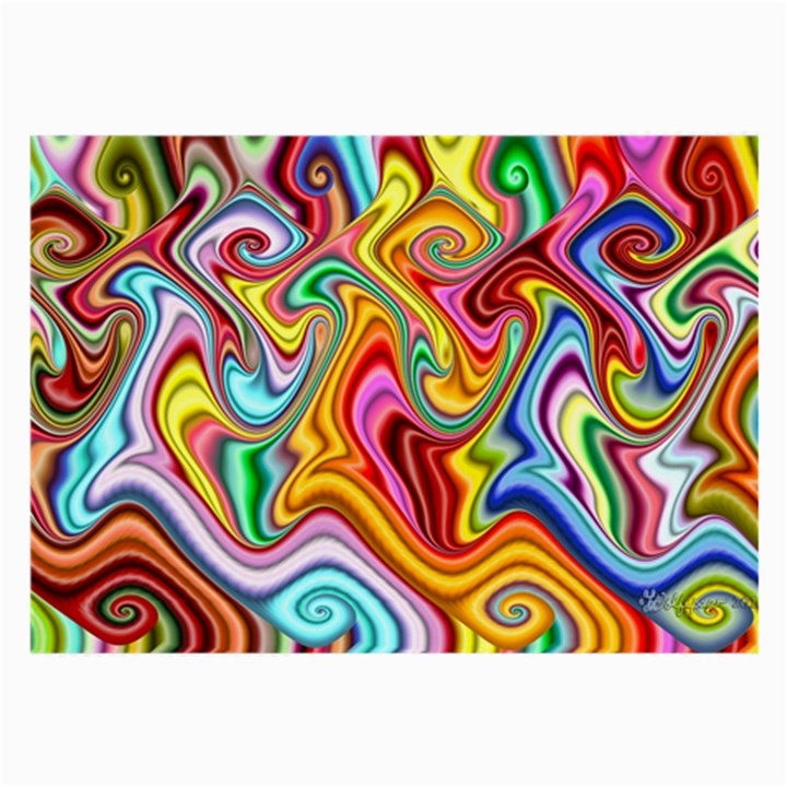 Rainbow Gnarls Large Glasses Cloth (2-Side)