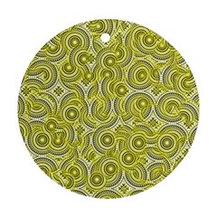 Broken Pattern D Round Ornament (two Sides)