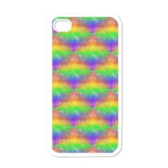 Painted Rainbow Pattern Apple Iphone 4 Case (white)