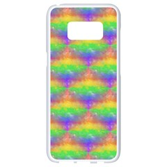 Painted Rainbow Pattern Samsung Galaxy S8 White Seamless Case