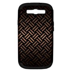 Woven2 Black Marble & Bronze Metal Samsung Galaxy S Iii Hardshell Case (pc+silicone)