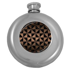 Triangle1 Black Marble & Bronze Metal Hip Flask (5 Oz)
