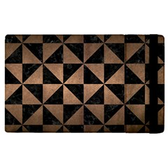 Triangle1 Black Marble & Bronze Metal Apple Ipad Pro 12 9   Flip Case