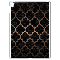 Tile1 Black Marble & Bronze Metal Apple Ipad Pro 9 7   White Seamless Case