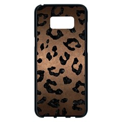 Skin5 Black Marble & Bronze Metal Samsung Galaxy S8 Plus Black Seamless Case