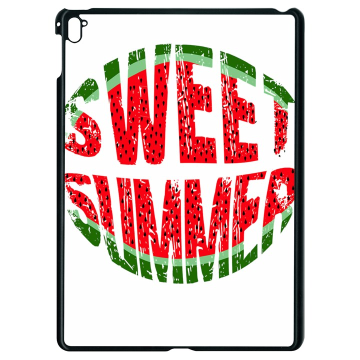 Watermelon - sweet summer Apple iPad Pro 9.7   Black Seamless Case