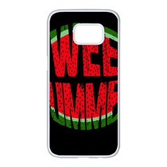 Watermelon   Sweet Summer Samsung Galaxy S7 Edge White Seamless Case