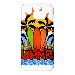 Tropical Summer Samsung Galaxy S7 Edge Hardshell Case
