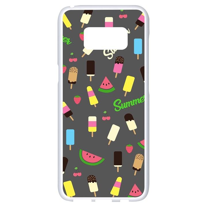 Summer pattern Samsung Galaxy S8 White Seamless Case