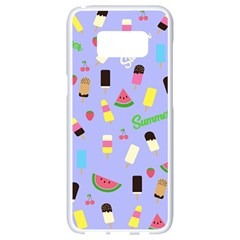 Summer Pattern Samsung Galaxy S8 White Seamless Case
