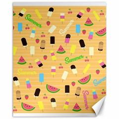 Summer Pattern Canvas 11  X 14
