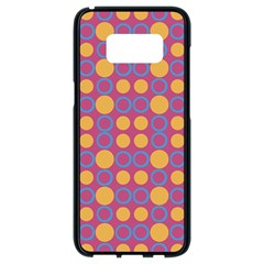 Colorful Geometric Polka Print Samsung Galaxy S8 Black Seamless Case