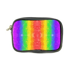 Striped Painted Rainbow Coin Purse