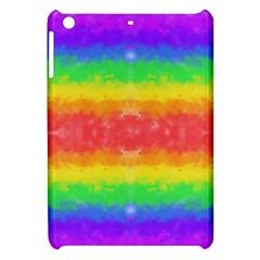 Striped Painted Rainbow Apple iPad Mini Hardshell Case
