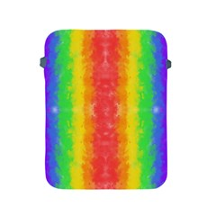 Striped Painted Rainbow Apple iPad 2/3/4 Protective Soft Cases