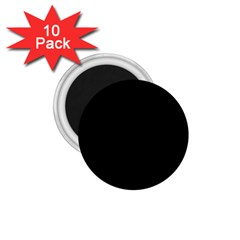 Simply Black 1 75  Magnets (10 Pack)