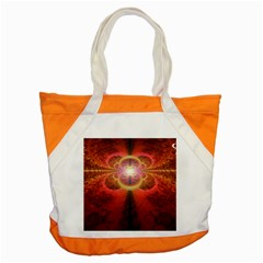 Liquid Sunset, A Beautiful Fractal Burst Of Fiery Colors Accent Tote Bag