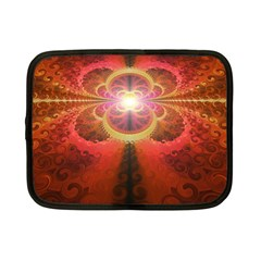 Liquid Sunset, A Beautiful Fractal Burst Of Fiery Colors Netbook Case (small)