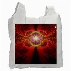 Liquid Sunset, A Beautiful Fractal Burst Of Fiery Colors Recycle Bag (two Side)