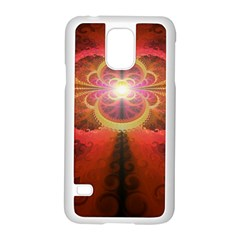 Liquid Sunset, A Beautiful Fractal Burst Of Fiery Colors Samsung Galaxy S5 Case (white)