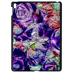 Floral Chrome 01a Apple Ipad Pro 9 7   Black Seamless Case